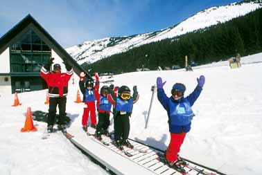 Children Skiing at Crystal Mountain
