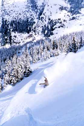 Skiing at Crystal Mountain